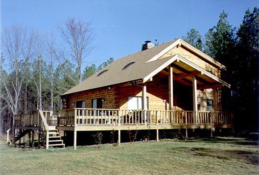 Passive solar custom log home