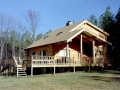 Passive solar custom log home