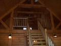 Custom interior – we provided all the T&G, log siding and timbers.