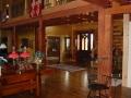 Custom interior of a 6 x 12 log home.