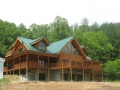 Custom 6 x 12 log home with dovetail corners.