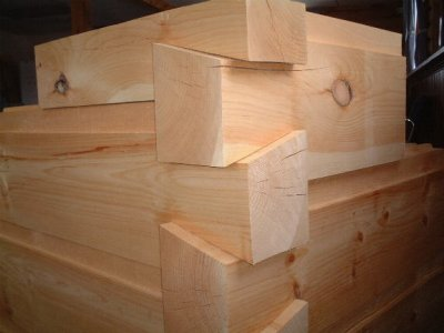 6×12 Chink Joint Logs Planed Smooth Dovetail Corners