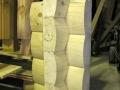 6×12 Drip Edge Round Flat D Shape Logs Saddle Notch Corner