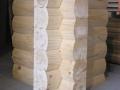 8×8 Round Flat D Logs Saddle Notch Corne
