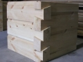 6 x 12 Curved base chink joint, German Chink Joint