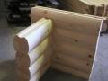 6×8-Round Round Logs Double D Saddle Notch Corner