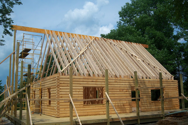 Log Cabin Roof Framing Pictures To Pin On Pinterest