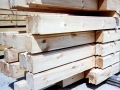 8x6 Flat Flat Chinked Logs Smooth Surface
