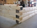 6x12 Round Flat D Logs With Dovetail Corners