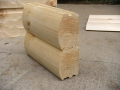 8x6 Round Flat D Drip Edge Logs
