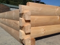 6 x 12 D Logs, Dovetail Draw Knife Hewn