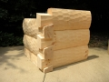 "6 x 12 ""D"" Logs with Dovetail Corner Hand Hewn"