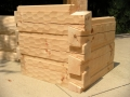6 x 12 Hand Hewn Logs - Square Chink Joint