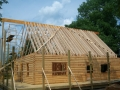 8 x 6 Logs with 2 x 12 Framed Roof
