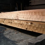 8 x 12 Western Red Cedar Logs - Hand Hewed
