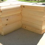 8 x 8 Round/Round Logs with Saddle Notch Corner