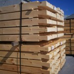 Dovetail Notches 8x6 D Logs Ready For Delivery