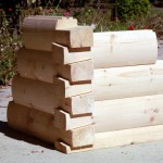 8x6 Round Flat D Logs with Dovetail Corners