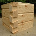 6x12 Curved base chink joint German Chink Hewed Dovetail Corners