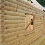 8x6 Round Flat D logs Windows Braced