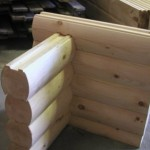 6x8-Round Round Logs Double D Saddle Notch Corner