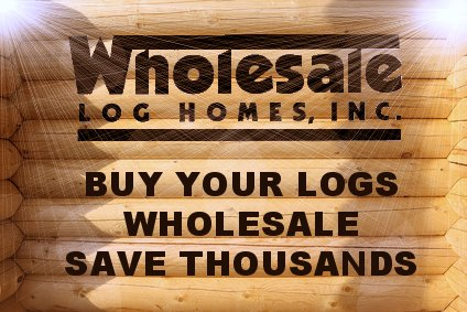 Wholesale logs for your log home or log cabin