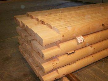 8 x 8 D Logs with Dovetails Cut