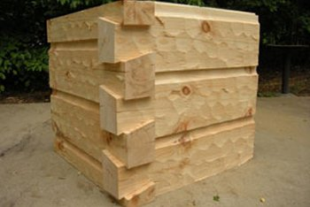 6  x 12 Chink Groove Logs, Dovetail Corner - Hand Hewed